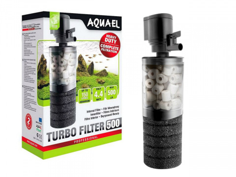 AQUAEL TURBO 500 filtr z ceramiką akwarium do 150L