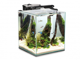 AQUAEL FISH & SHRIMP SET DUO czarne AKWARIUM 49L
