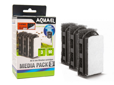 AQUAEL MEDIA PACK 3 carbomax VERSAMAX mini (3szt)