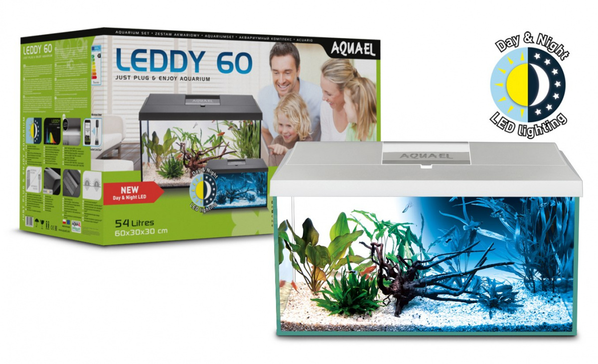 AQUAEL LEDDY SET 60 Day&Night akwarium białe